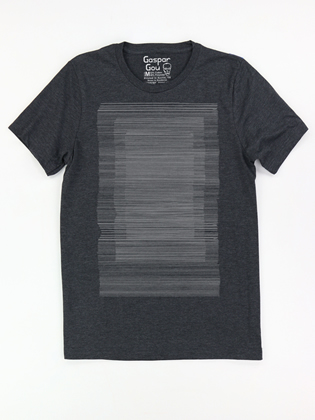 Supermaggie Lines Heather Charcoal Charlie Tee