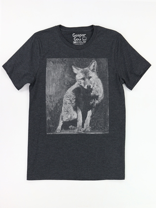 Supermaggie Wolf Heather Charcoal Charlie Tee