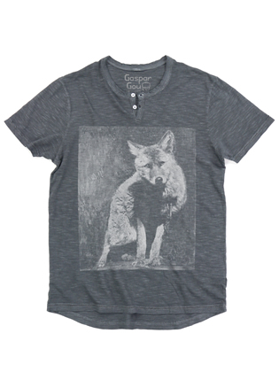 Supermaggie Wolf Concrete Harry Henley Tee
