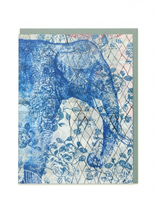Supermaggie Blue Blue Elephant Card
