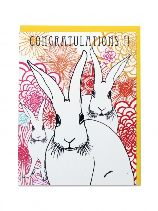 Supermaggie Congratulations Bunnies Card