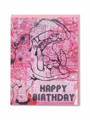 Supermaggie Happy Birthday Hippo Card