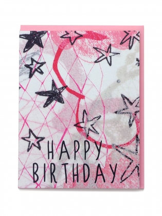 Supermaggie Happy Birthday Stars Card
