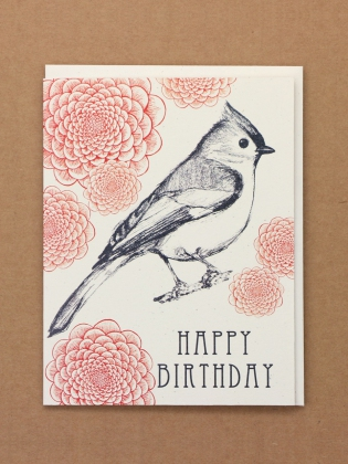 Supermaggie Happy Birthday Titmouse Card