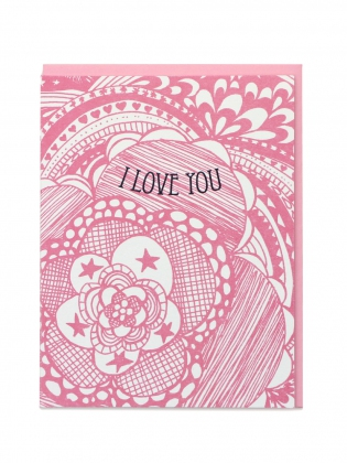 Supermaggie I Love You Pattern Card
