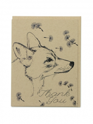 Supermaggie Thank You Coyote Card