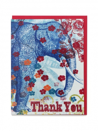 Supermaggie Thank You Elephant Card