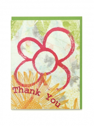 Supermaggie Thank You Flower Card