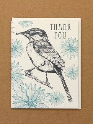 Supermaggie Thank You Wren Card