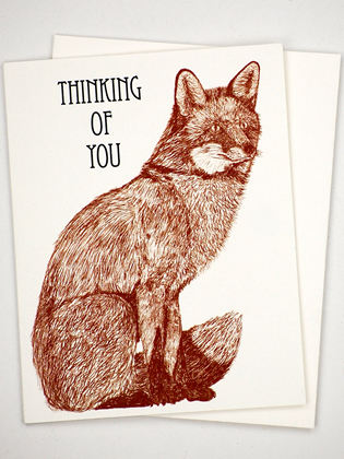 Supermaggie Thinking Of You Fox Card