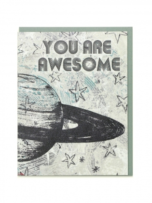 Supermaggie You Are Awesome Saturn Card