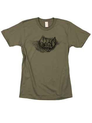Supermaggie Bat Face Army Cotton Tee