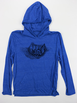 Supermaggie Bat Face Pacific Blue Hoodie