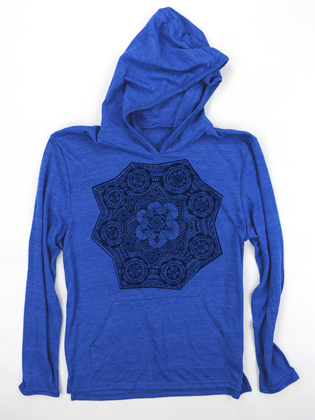 Supermaggie Black Star Pacific Blue Hoodie