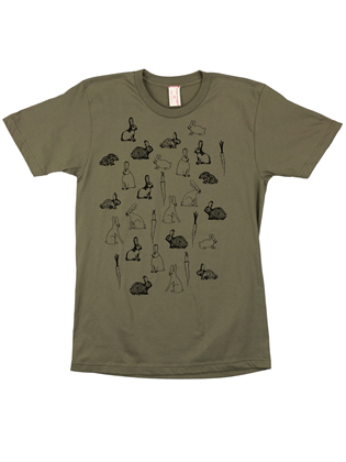 Supermaggie Carrots And Bunnies Army Cotton Tee