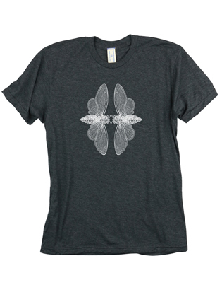 Supermaggie Cicadas Heather Charcoal 5050 Tee