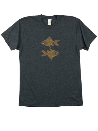 Supermaggie Double Goldfish Heather Charcoal 5050 Tee