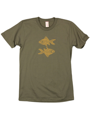 Supermaggie Double Goldfish Army Cotton Tee