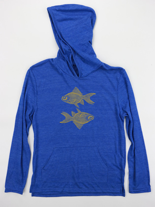 Supermaggie Double Goldfish Pacific Blue Hoodie