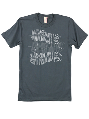 Supermaggie Ferns Asphalt Cotton Tee
