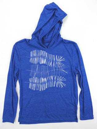 Supermaggie Ferns Pacific Blue Hoodie