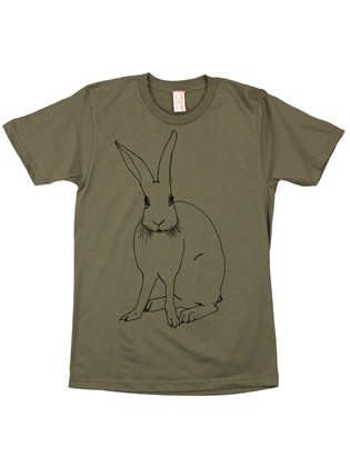 Supermaggie Funny Bunny Army Cotton Tee