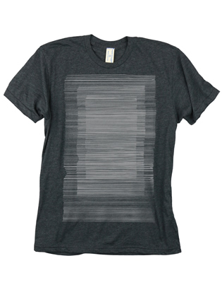 Supermaggie Lines Heather Charcoal 5050 Tee