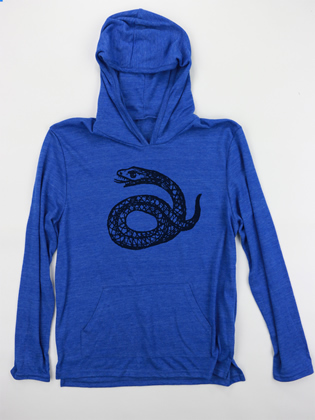 Supermaggie Little Snake Pacific Blue Hoodie