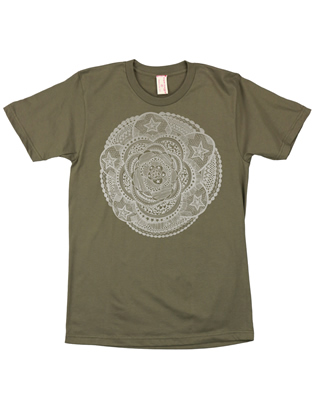 Supermaggie Mandala Army Cotton Tee
