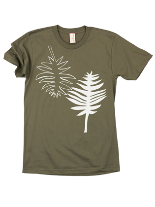Supermaggie Palms Army Cotton Tee