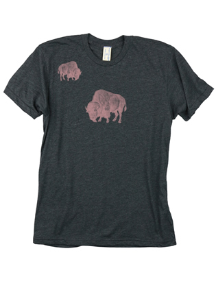 Supermaggie Pink Buffalo Heather Charcoal 5050 Tee
