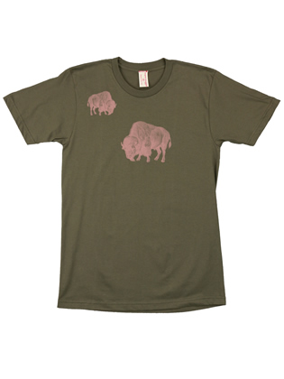 Supermaggie Pink Buffalo Army Cotton Tee