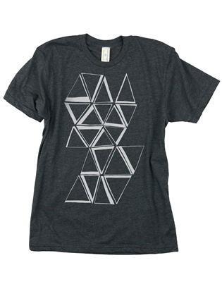 Supermaggie Prisms Heather Charcoal 5050 Tee