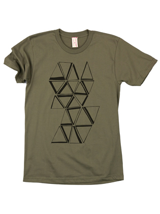 Supermaggie Prisms Army Cotton Tee