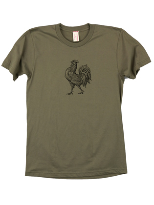Supermaggie Rooster Army Cotton Tee