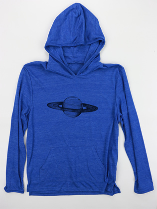 Supermaggie Saturn Pacific Blue Hoodie