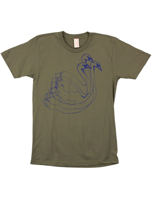Supermaggie Swans Army Cotton Tee