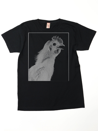 Supermaggie URWUE Chicken Black Frankie Tee