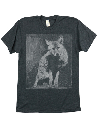 Supermaggie Wolf Heather Charcoal 5050 Tee