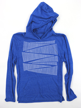 Supermaggie Zipper Pacific Blue Hoodie