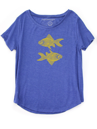 Supermaggie Double Goldfish Lapis Nancy Tee