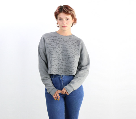 Chloe Crop Fleece Sweatshirt