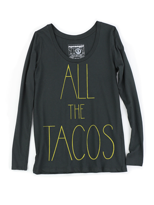 Supermaggie All The Tacos Black Sasha Long Sleeve