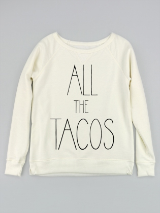 Supermaggie All The Tacos Marshmallow Tyler Sweatshirt