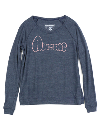 Supermaggie Awesome Heather Navy Amy Eco Long Sleeve