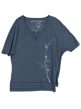 Supermaggie Birds On Branch Sea Layla Top