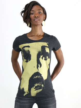 Supermaggie Doll Face Heather Charcoal Penelope Tee