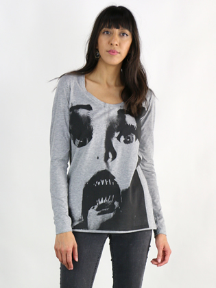 Supermaggie Doll Face Heather Gray Sasha Long Sleeve