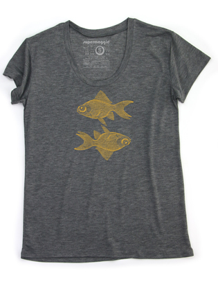 Supermaggie Double Goldfish Ash Kim Tee