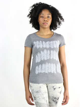 Supermaggie Feathers Heather Gray Penelope Tee